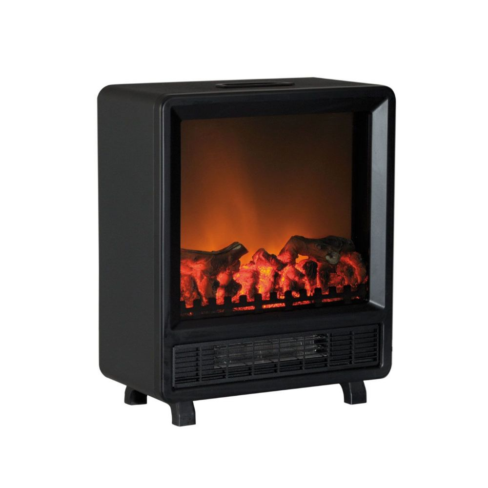 Log Flame Effect Contemporary Electric Stove With Fan
